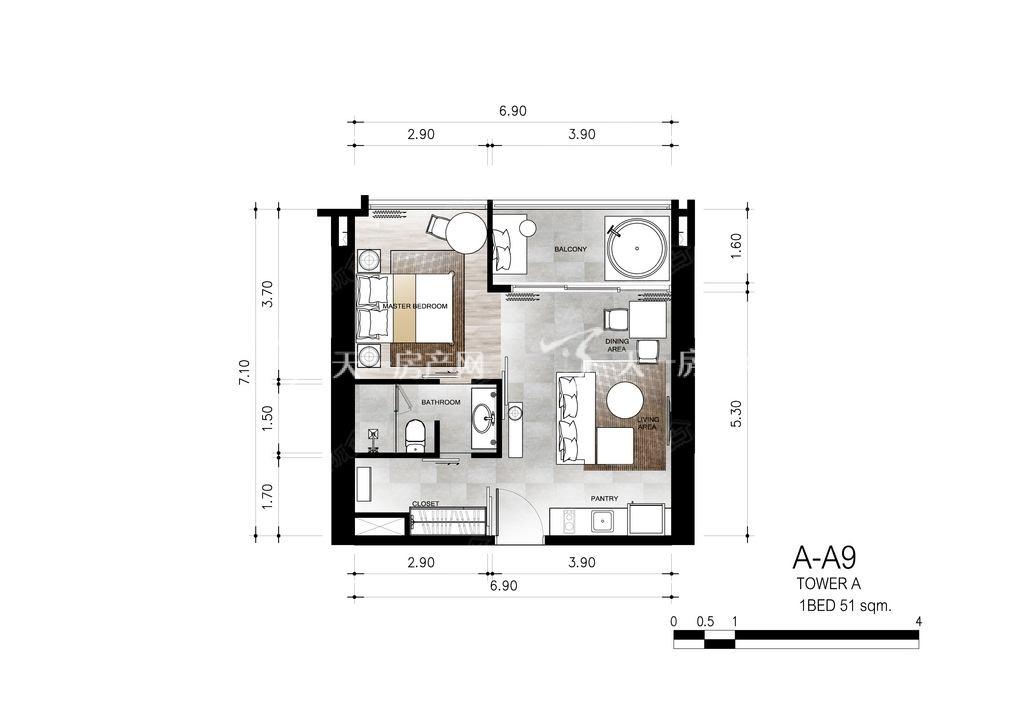 芭提雅第六境 A-A一室一卫约51㎡.jpg