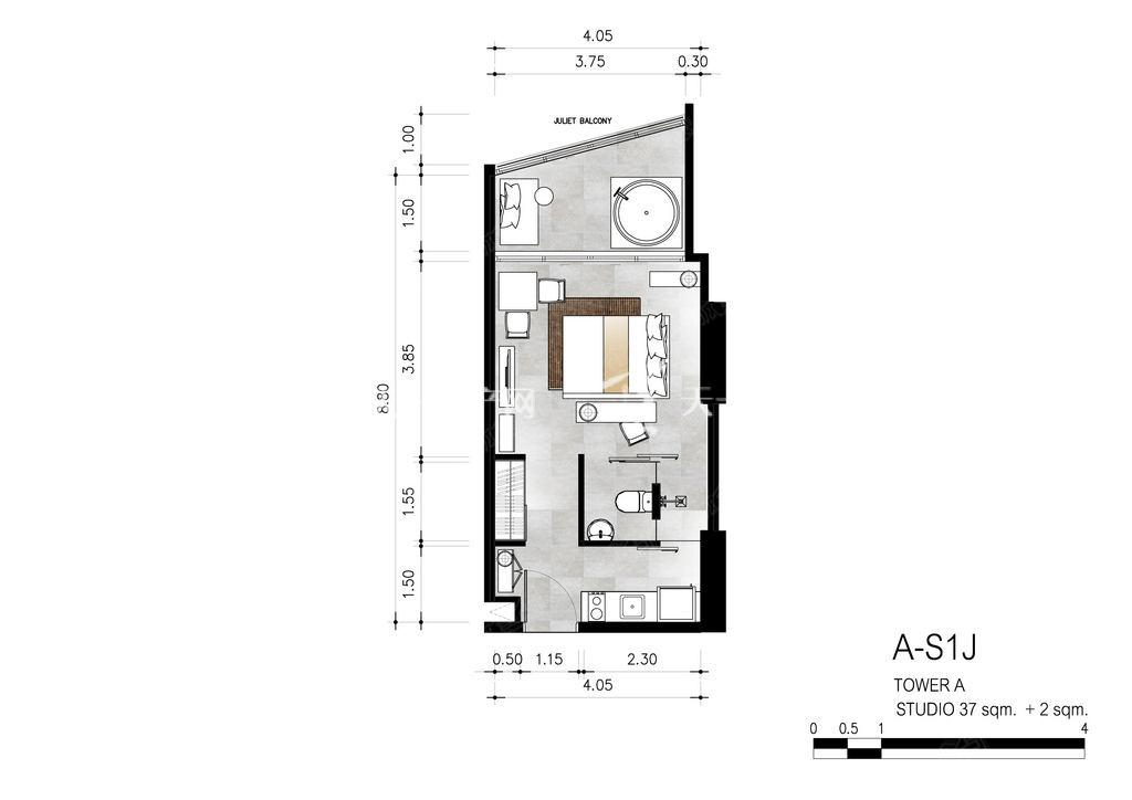 芭提雅第六境 A-S1J一室一卫39㎡.jpg