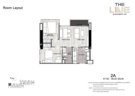 曼谷The Line精装公寓 曼谷The-Line-复式-47㎡-两居户型.jpg