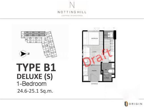 Notting Hill Ladprao1室1厅1卫1厨建筑面积25㎡