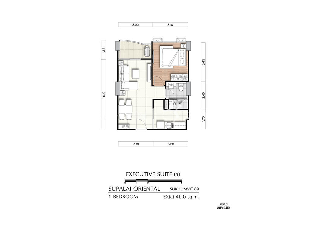曼谷东方国际公寓 ex(a)户型-1房2厅-建筑面积46.5㎡.jpg