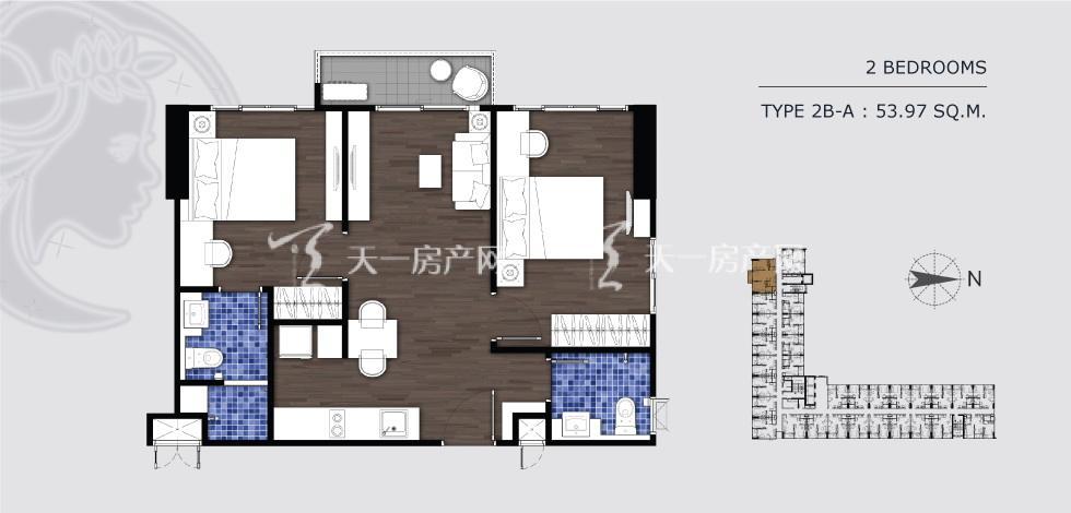 曼谷月盈新苑 2B-A两室两卫 54㎡.jpg