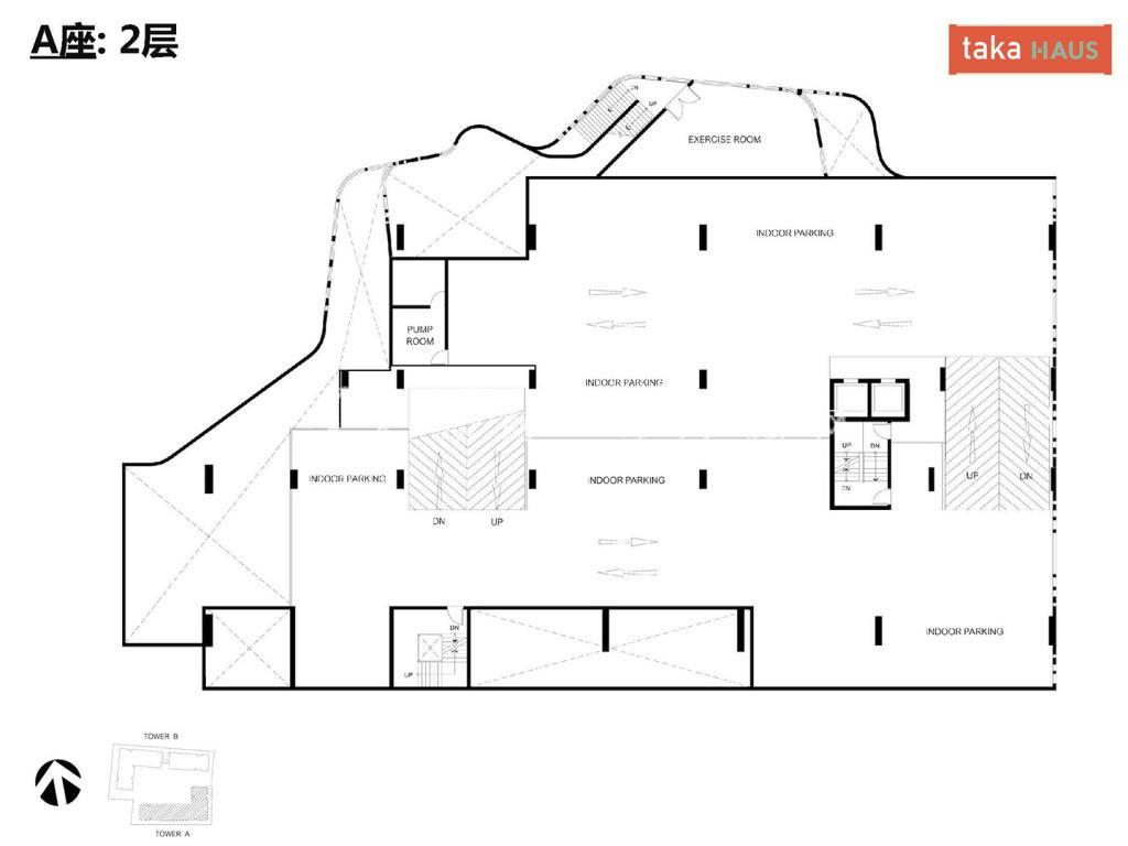 Taka HausTaka Haus A座2层平面图