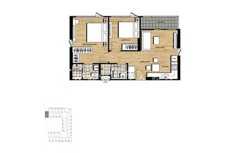 普吉市镇Base Height高层公寓 两房57平方米(2).jpg