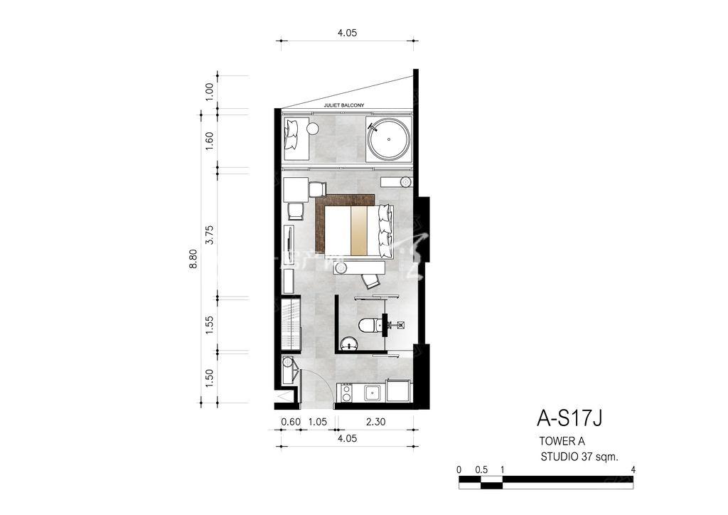 芭提雅第六境 A-S17J一室一卫约37㎡.jpg