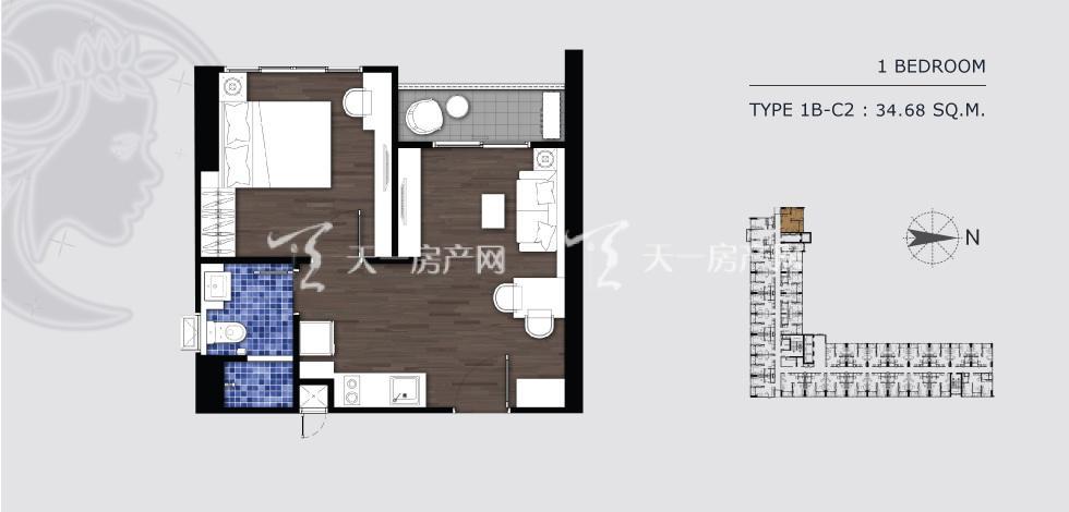 曼谷月盈新苑 1B-C2 一室一卫 34.68㎡.jpg
