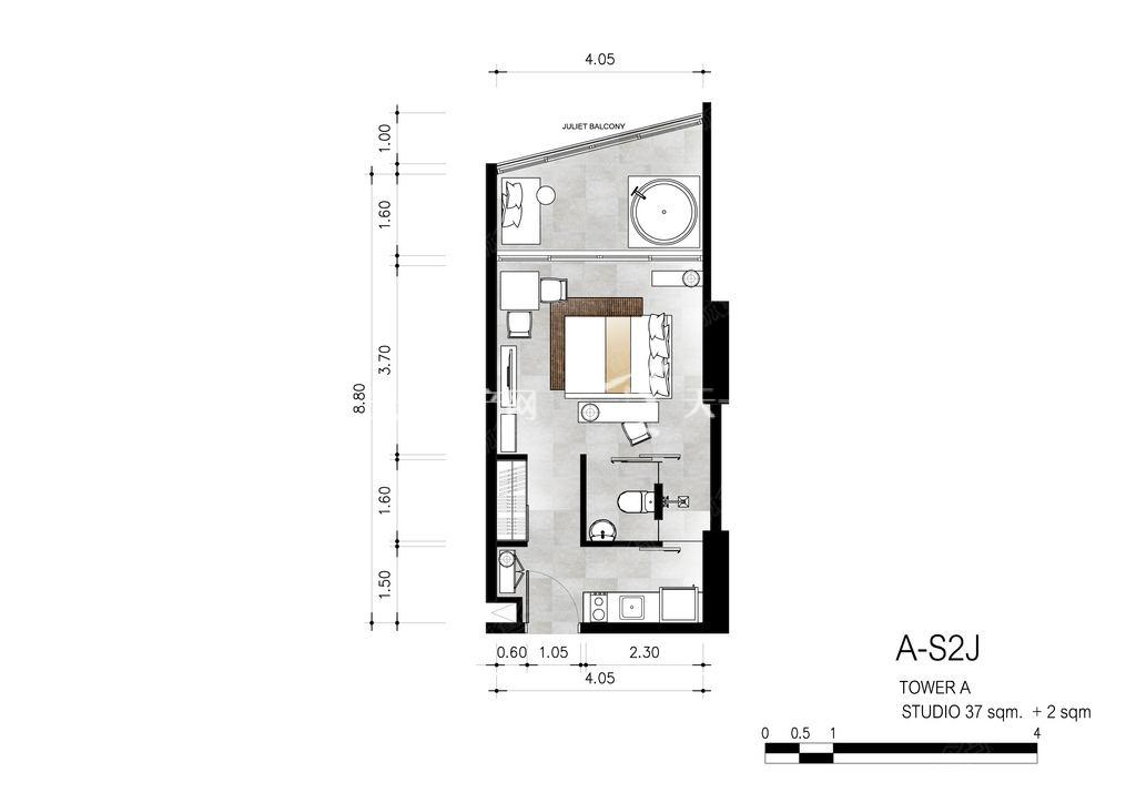 芭提雅第六境 A-S2J一室一卫约39㎡.jpg