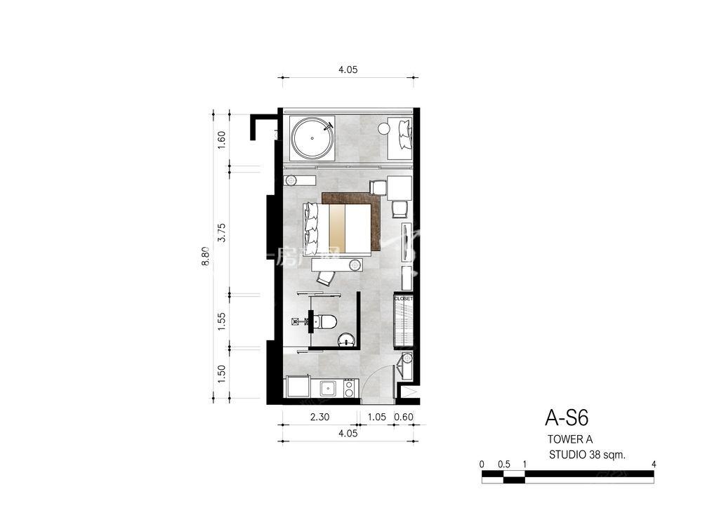 芭提雅第六境 A-S6一室一卫约38㎡.jpg
