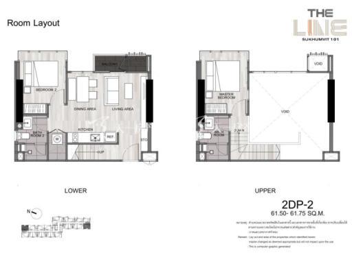 曼谷The Line精装公寓 复式61平方米两居户型图.jpg