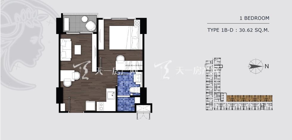 曼谷月盈新苑 1B-D 一室一卫30.62㎡.jpg
