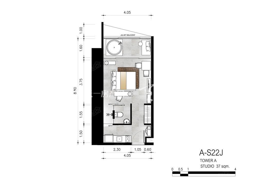 芭提雅第六境 A-S22J一室一卫约37㎡.jpg