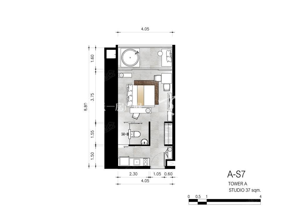 芭提雅第六境 A-S7一室一卫约37㎡.jpg