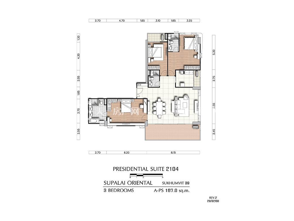 曼谷东方国际公寓 a-ps2104户型-3房2厅-建筑面积167㎡.jpg