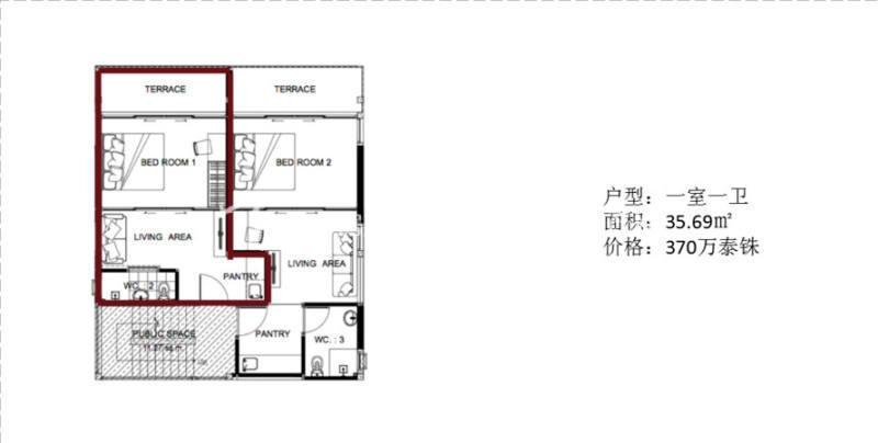 泰国普吉岛UTK项目 泰国普吉岛UTK项目 一室一卫 35.69㎡.jpg