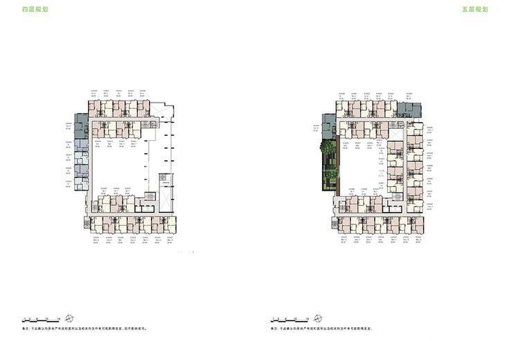 普吉市镇Base Height高层公寓 户型平面图一居34㎡两居57㎡(2).jpg