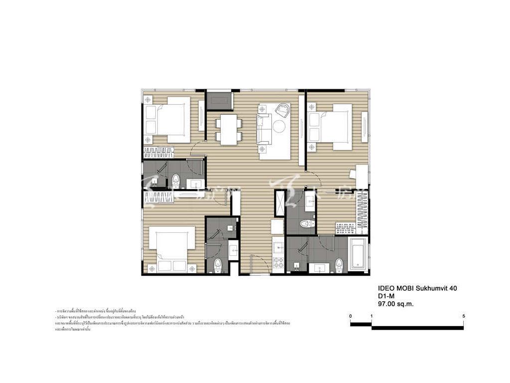 未来公馆 D1-M户型-3房2厅-建筑面积97㎡