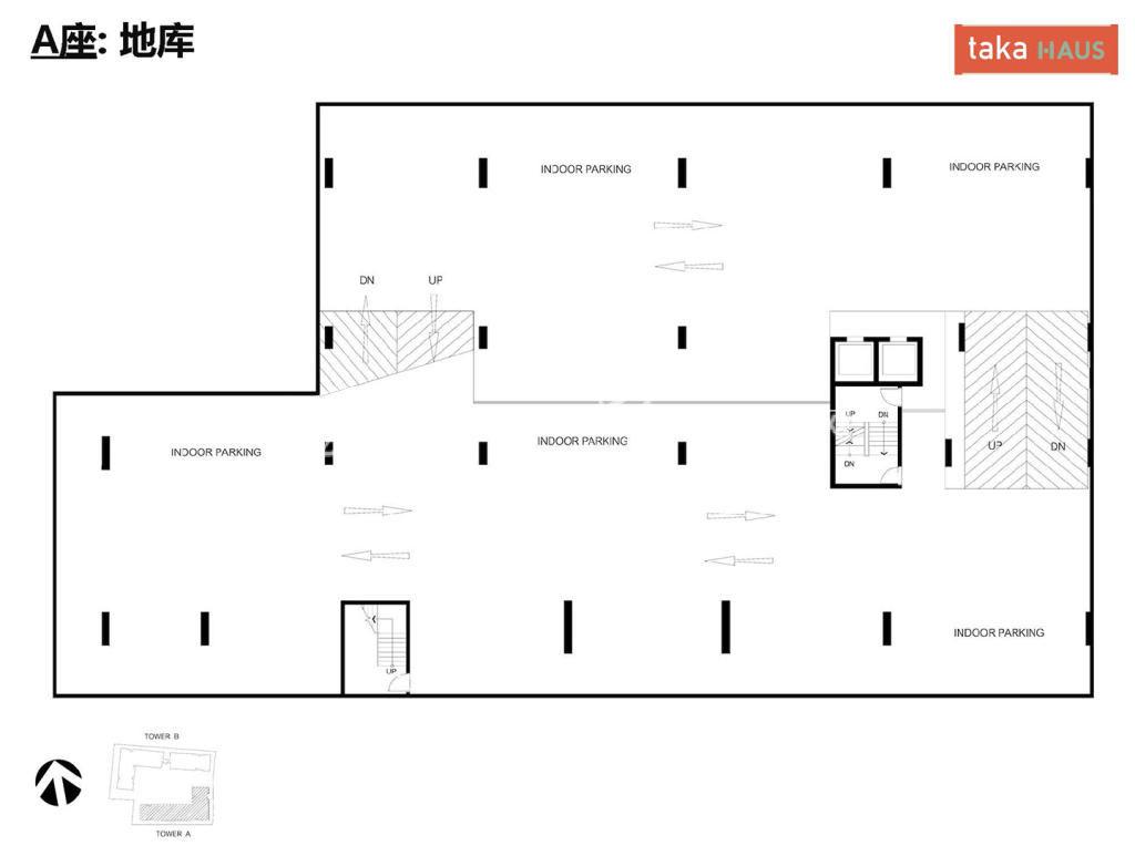 Taka HausTaka Haus A座地库平面图