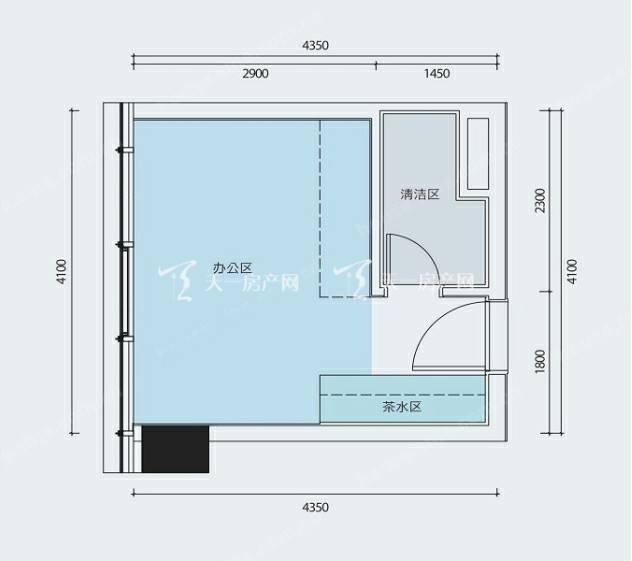 横琴万象世界 SOHO—C户型 25平米