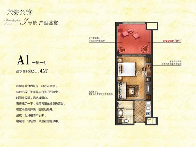 东和福湾A1户型1房1厅建筑面积约51㎡.jpg