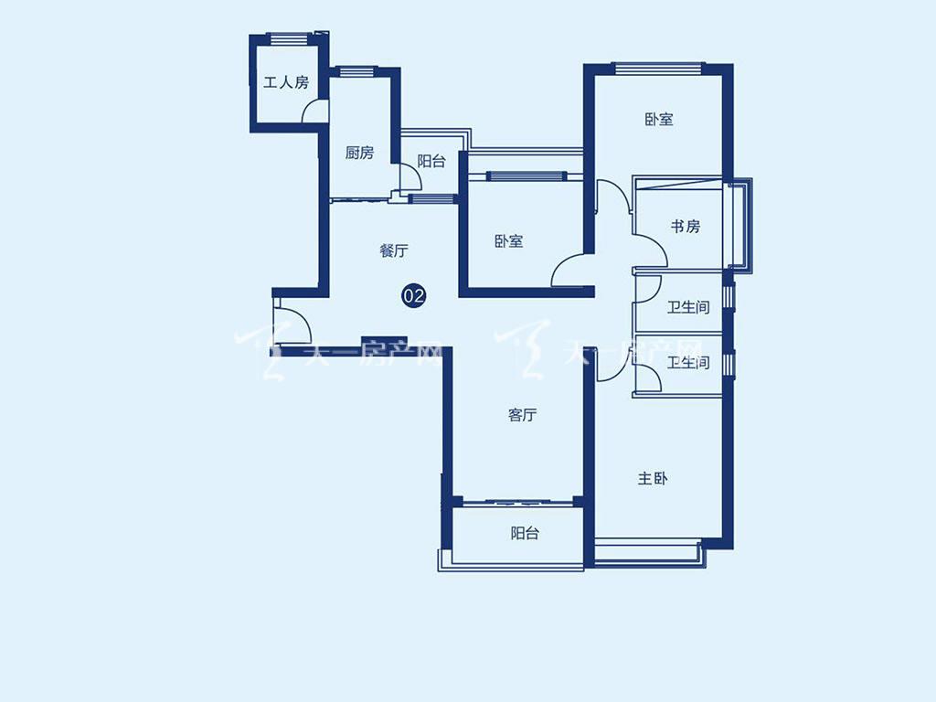 北海恒大御景半岛7#2单元02户型,4室2厅2卫,建筑面积约161.94平米.jpg