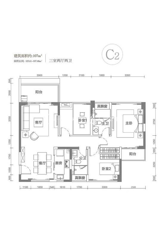 南枫禅墅C2户型-3室2厅1厨2卫-107.00㎡.jpg