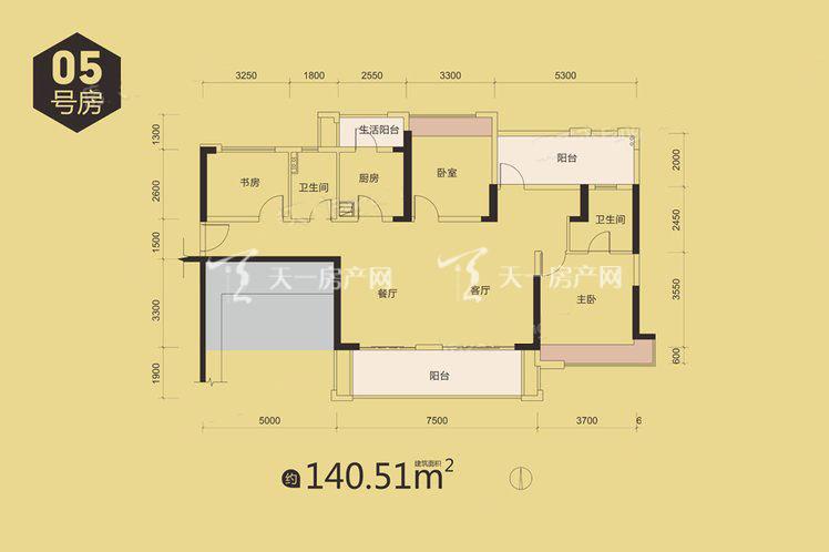 金地天润自在城9栋05户型居室:3室2厅2卫1厨建筑面积:140.00㎡.jpg