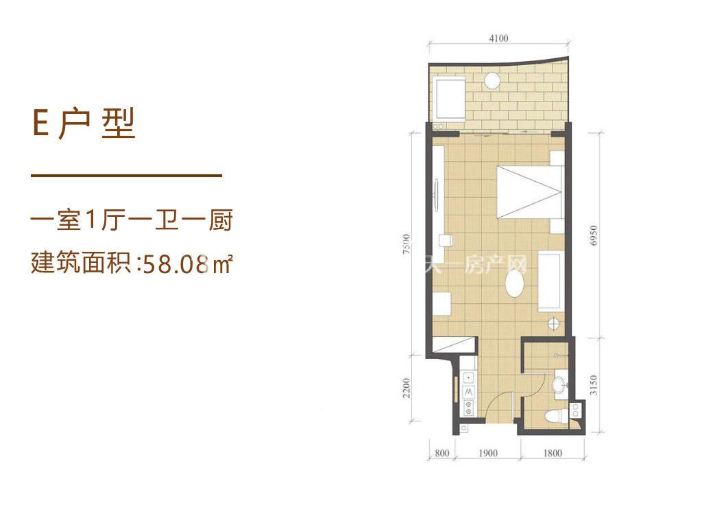 海南佰悦湾E户型1室1厅1卫1厨58.08㎡.jpg