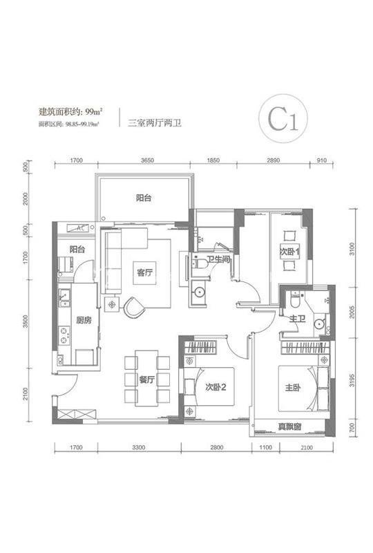 南枫禅墅C1户型-3室2厅1厨2卫-99.00㎡.jpg